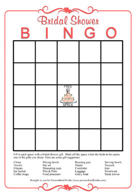 Free Printable Bridal Shower Bingo Cards - Image Cabinets and Shower ...