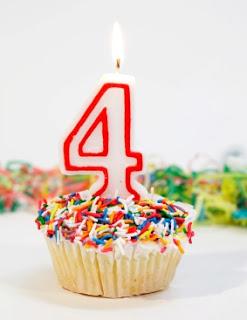 Happy 4th Blogoversary to Me!!