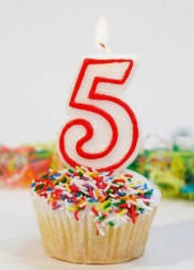 I can't believe it's my 5 year blogoversary!