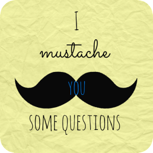 A Fun New Tag:  I Mustache You Some Questions