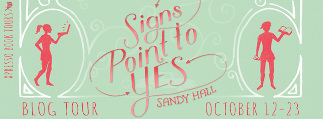 Promo Interview Post with Giveaway:  Signs Point to Yes by Sandy Hall