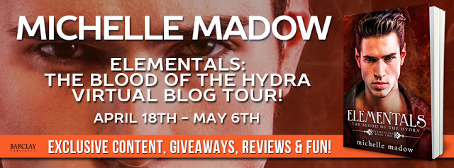 Review and Giveaway – Elementals 2: The Blood of the Hydra by Michelle Madow