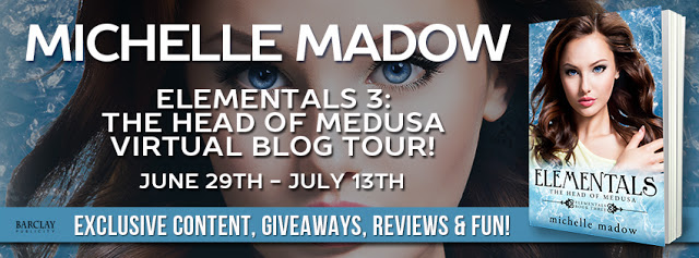 Review and Giveaway – Elementals 3:  The Head of Medusa by Michelle Madow