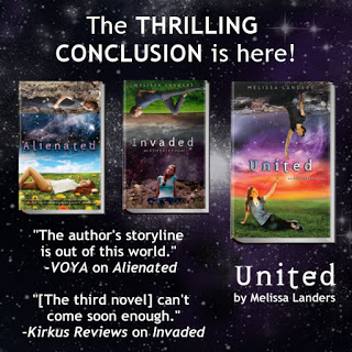 Launch Day Blitz and Giveaway:  United (Alienated #3) by Melissa Landers