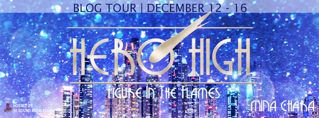 Author Interview and Giveaway – Hero High:  Figure in the Flames by @authorminachara