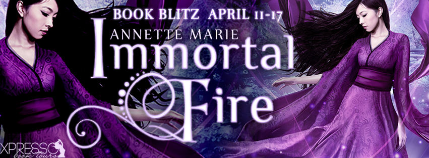Book Blitz and Giveaway:  Immortal Fire (Red Winter Trilogy #3) by Annette Marie
