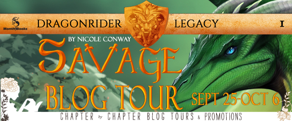 Author Interview with Giveaway:  Savage (Dragonrider Legacy #1) by Nicole Conway