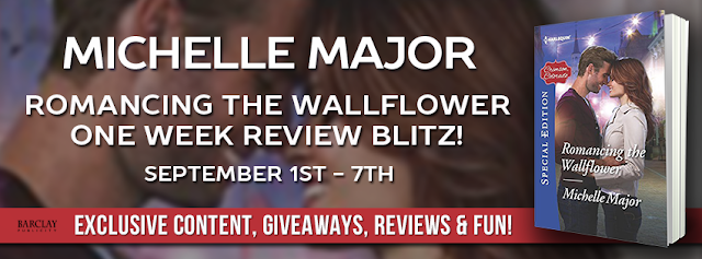 Release Blitz with Giveaway:  Romancing the Wallflower by Michelle Major