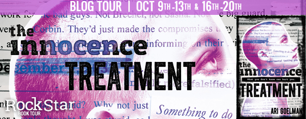 Author Interview with Giveaway:  The Innocence Treatment by Ari Goelman