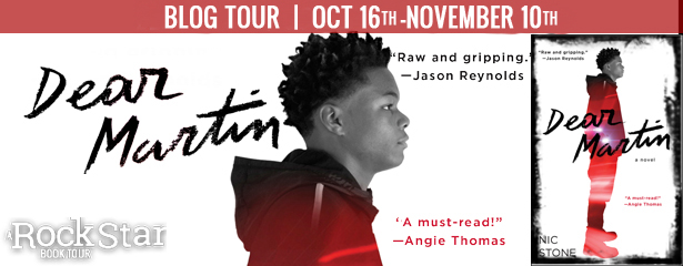 Blog Tour with Giveaway:  Dear Martin by Nic Stone