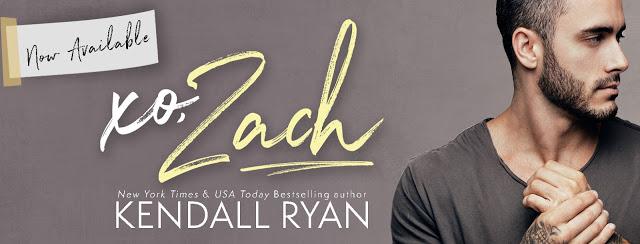 Release Day Blitz:  xo, Zach by Kendall Ryan