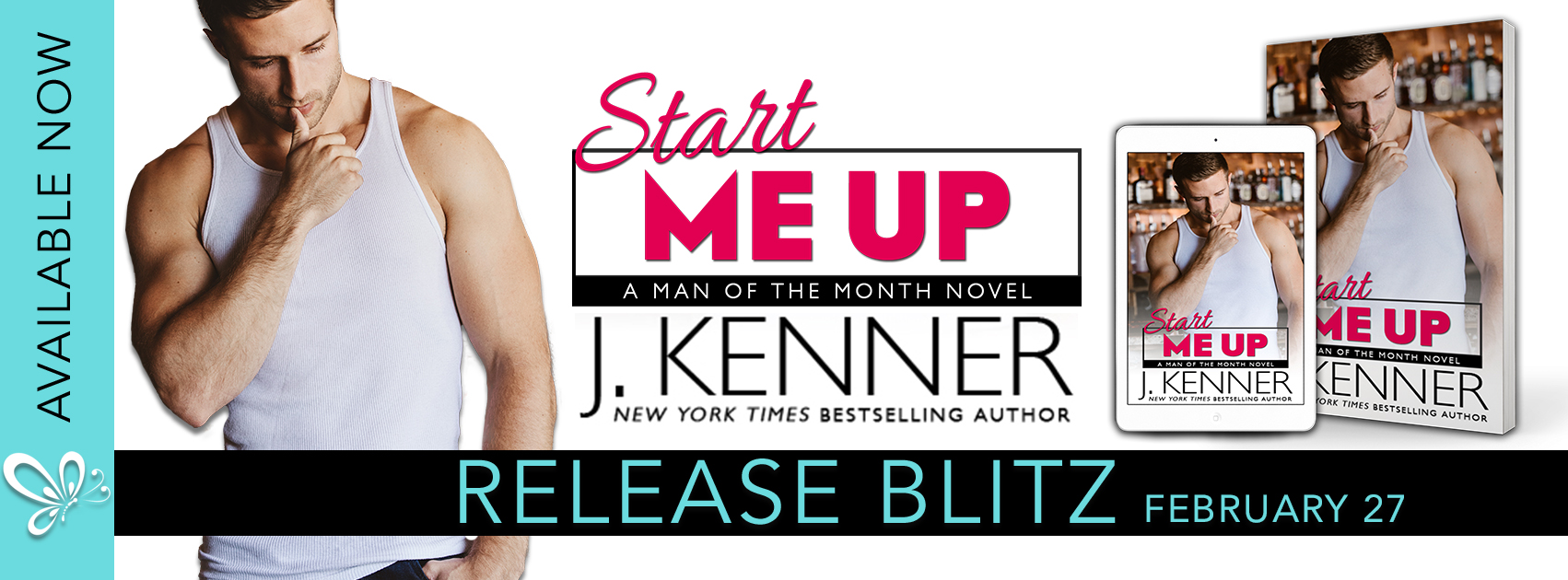 Release Blitz with Review:  Start Me Up (Man of the Month #4) by J. Kenner