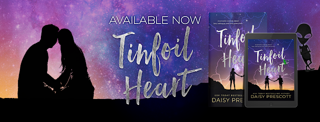 Blog Tour Excerpt with Giveaway:  Tinfoil Heart by Daisy Prescott