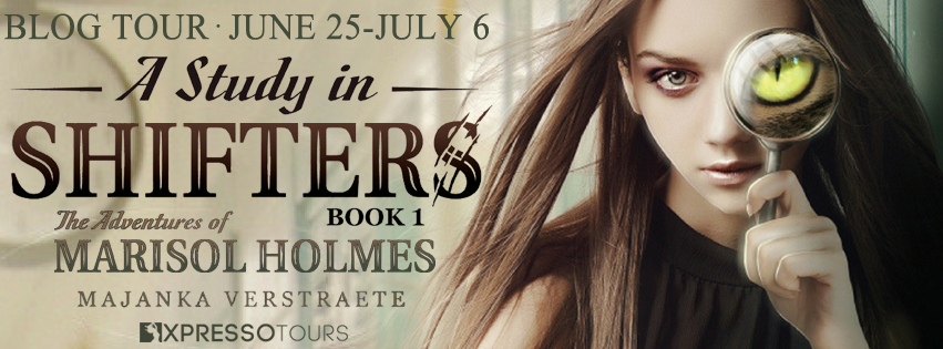 Blog Tour Author Interview with Giveaway:  A Study in Shifters (The Adventures of Marisol Holmes #1) by Majanka Verstraete