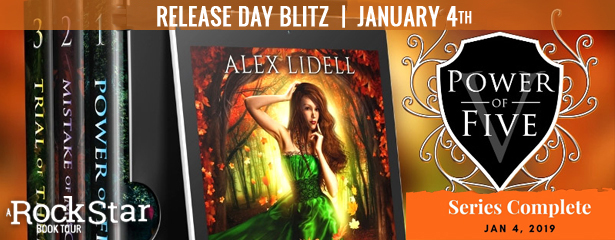 Release Blitz with Giveaway:  Power of Five Series by Alex Lidell