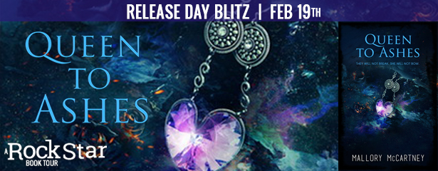 Release Blitz with Giveaway:  Queen to Ashes (Black Dawn #2) by Mallory McCartney