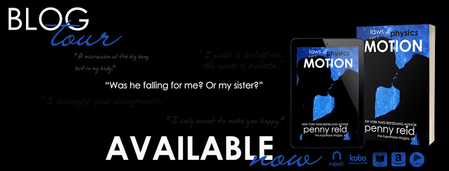 Blog Tour Review with Giveaway:  Motion (Laws of Physics #1) by Penny Reid