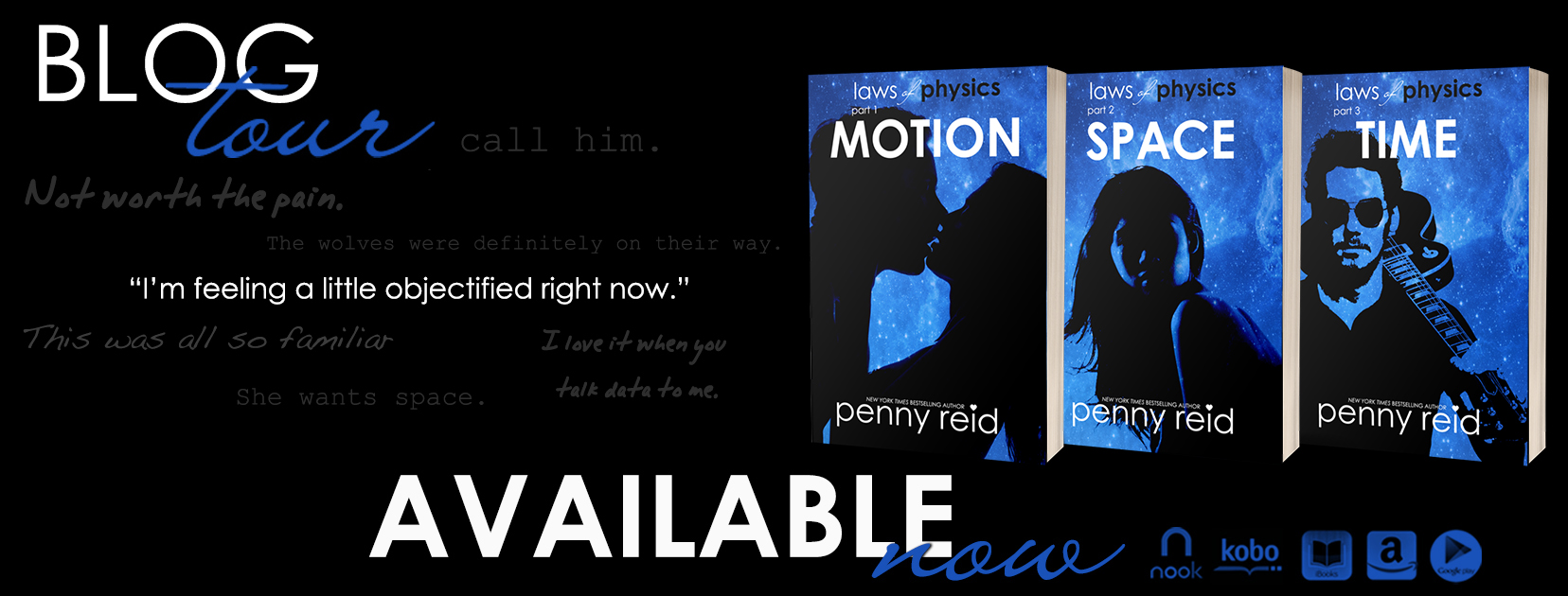 Blog Tour Review:  Time (Laws of Physics #3) by Penny Reid