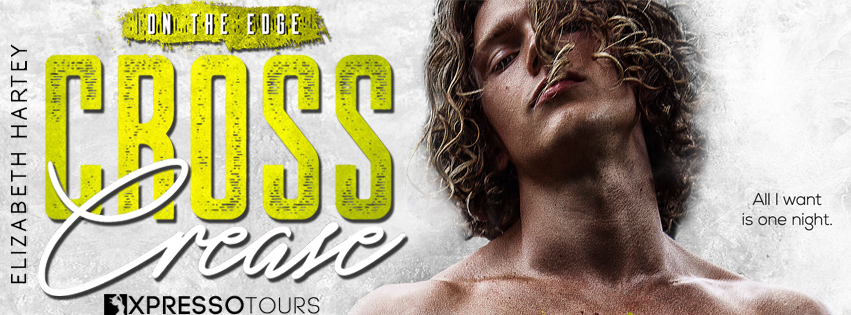 Cover Reveal:  Cross Crease (On the Edge #3) by Elizabeth Hartey