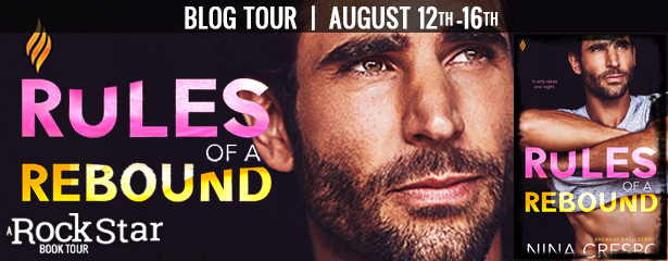 Blog Tour with Giveaway:  Rules of a Rebound (Breakup Bash series #3) by Nina Crespo