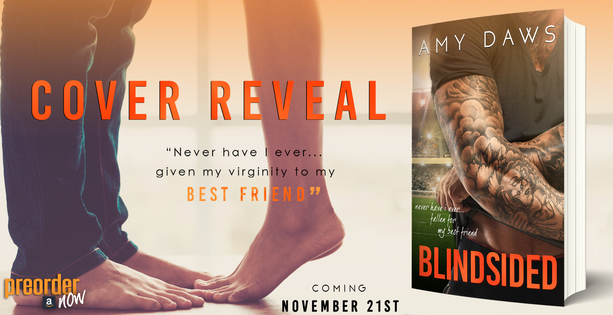 Cover Reveal with Giveaway:  Blindsided by Amy Daws