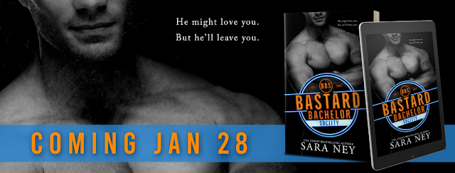 Cover Reveal:  The Bastard Bachelor Society (The Bachelor Club #1) by Sara Ney