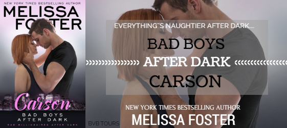 Review Tour: Carson (Bad Boys After Dark) by Melissa Foster